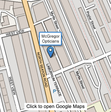 Small Map Showing Mcgregor Opticians